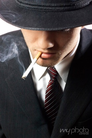 Smoking Gangster Portrait