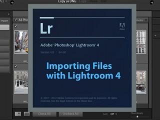 Importing Files with Lightroom 4