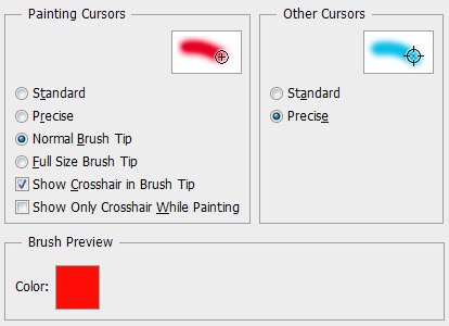 Photoshop CS6 Cursors Preferences