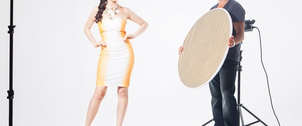 Using reflector in photography