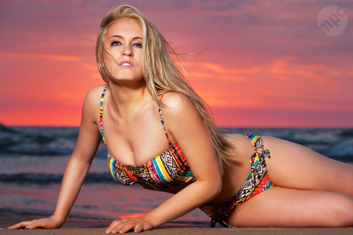 Chicago Sunrise Swimwear Photography